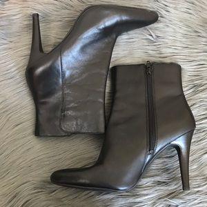 Getty Bootie by Nine West Black Leather Sz 8.5 M